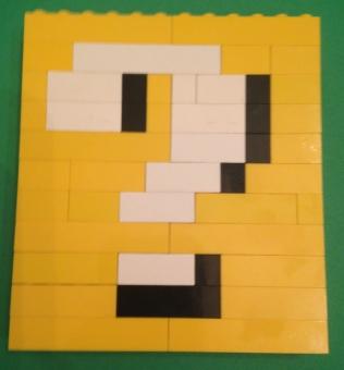 question block, Mario, Lego