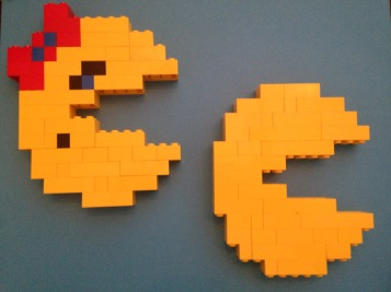 Lego, Pac-Man, Mrs. Pac-Man, old school, arcade