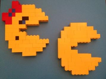 Lego, Pac-Man, Mrs. Pac-Man, old school, arcade