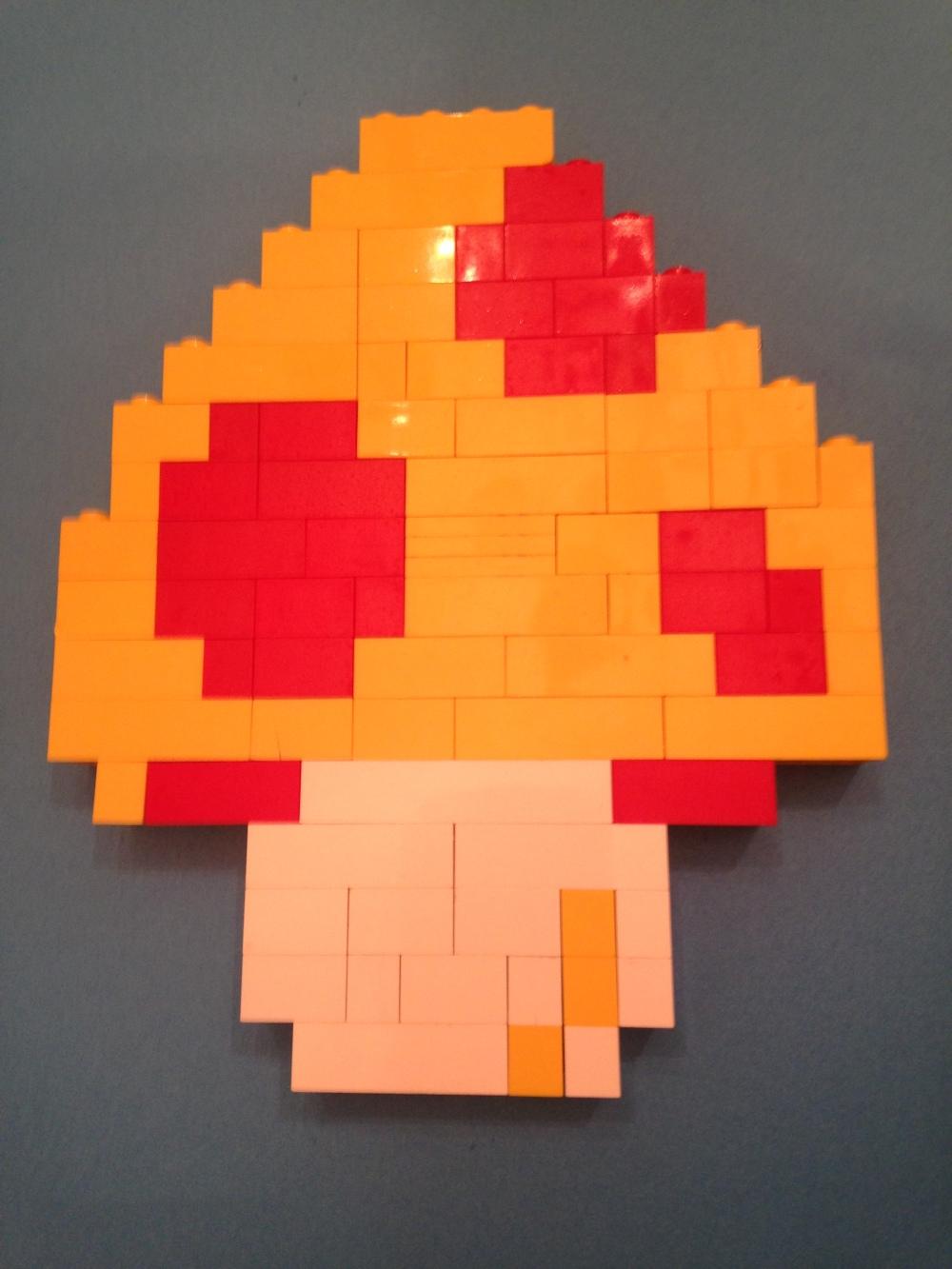 Lego, mushroom, Mario