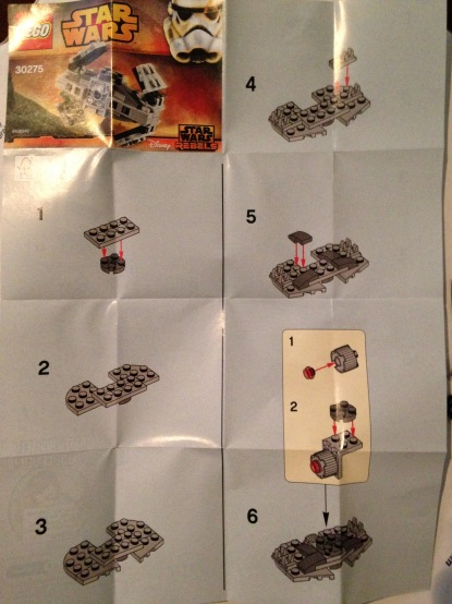 Lego Instructions, Star Wars, TIE
