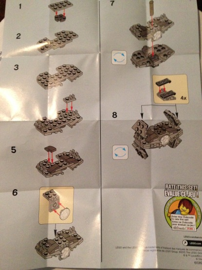 Lego, TIE fighter, instructions 30275