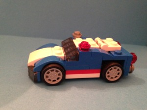 Lego Blue Racer side view