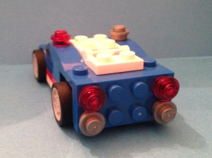 Lego Blue Racer back view