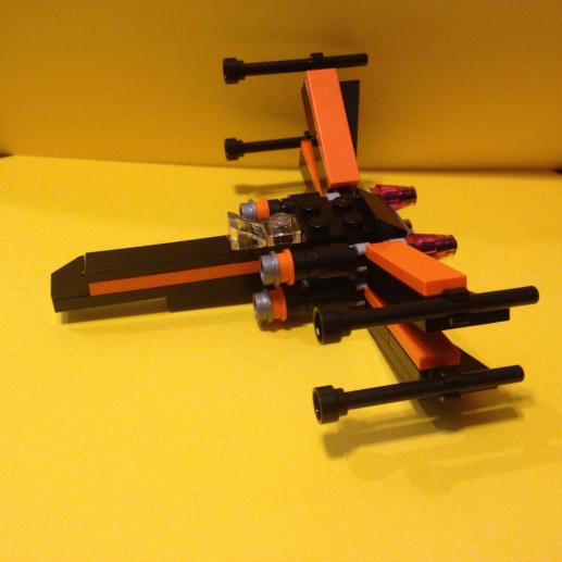 Lego, Star Wars, Poe, x-wing fighter