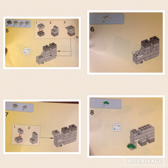 Lego Elephant Instructions page 2