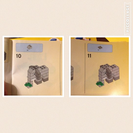 Lego Elephant Instructions page 3