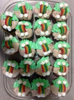 Girl Scouts, bridging ceremony, cupcakes, juniors, cadettes
