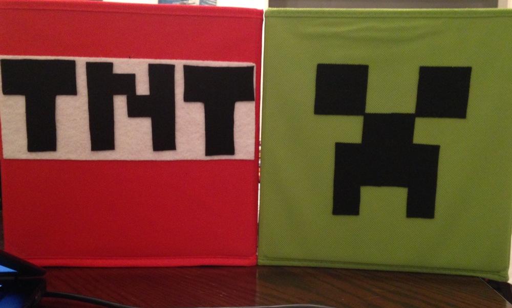 Minecraft, fabric drawers, Creeper, TNT box