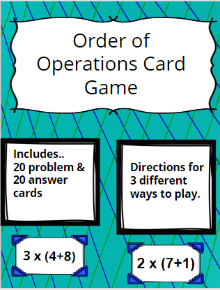 5th Grade Math, Order of operations, differentiation