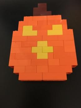 Lego bricks, Pumpkin, Halloween
