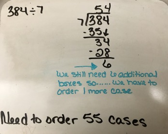 long division, QR codes, 5th grade, student answers