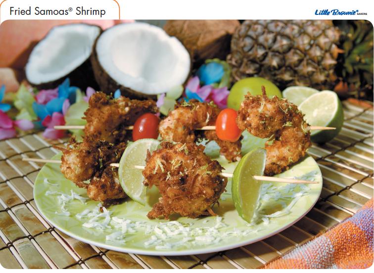 Little Brownies, Girl Scouts, Samoas,, Recipe, Shrimp