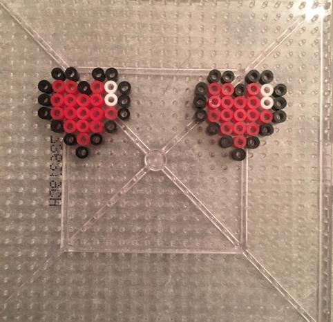 Legend of Zelda heart Perler bead Earrings
