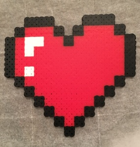 Legend of Zelda- Life Heart Perler Bead Pattern
