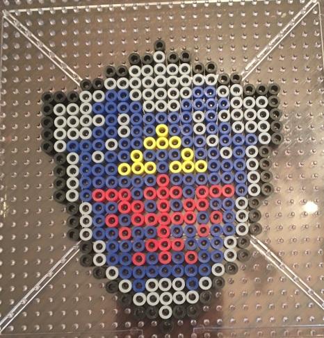 Perler beads, zelda, link, shield, pattern