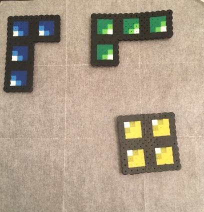 Perler Bead Tetris Bricks Patterns Ironed