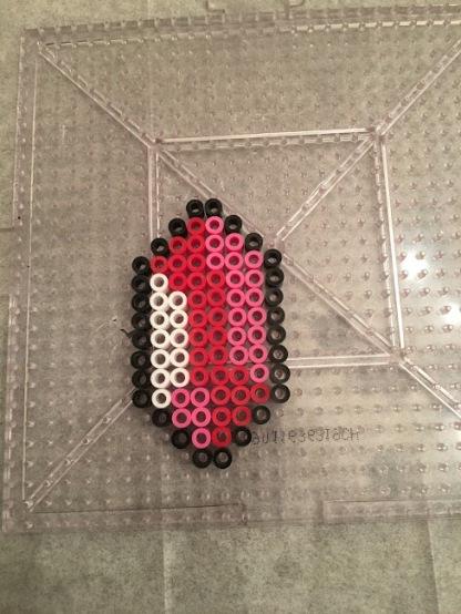 Red Zelda Rupee Perler Hama Bead Patterns