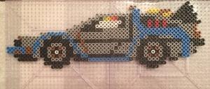 DeLorean Time Machine Perler Beads, Hama, Back to the Future