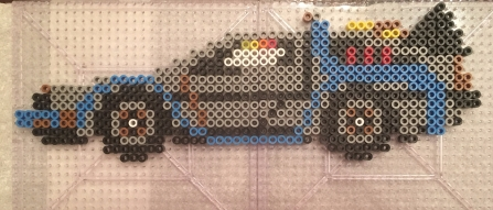 DeLorean Time Machine Perler Beads, Hama, Back to the Future