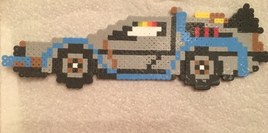 Time Machine Perler Beads, Hama, Back to the Future