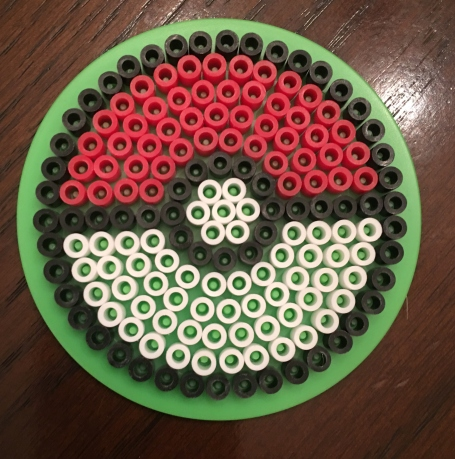 Perler, beads, Pokeball
