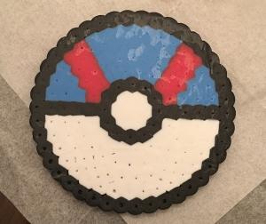 Perler, beads, Pokeball, Great Ball, Pokemon