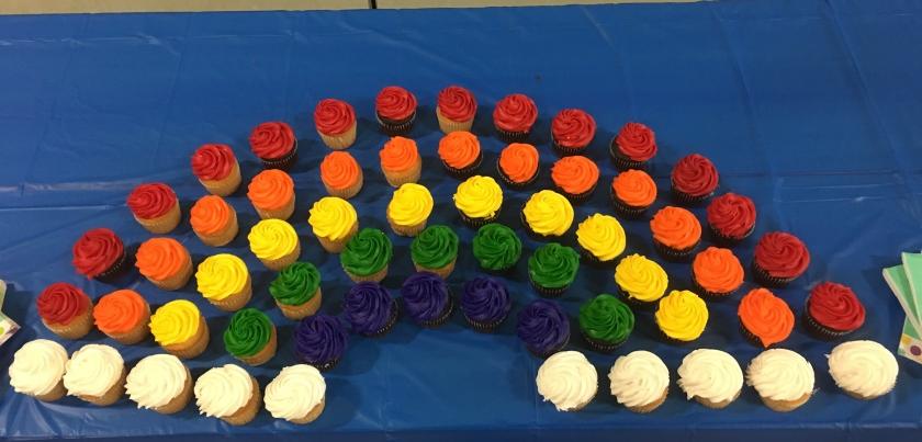 Girl Scouts, bridging, rainbow