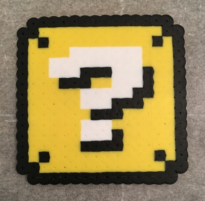 Mario, Perler Beads, Question Block