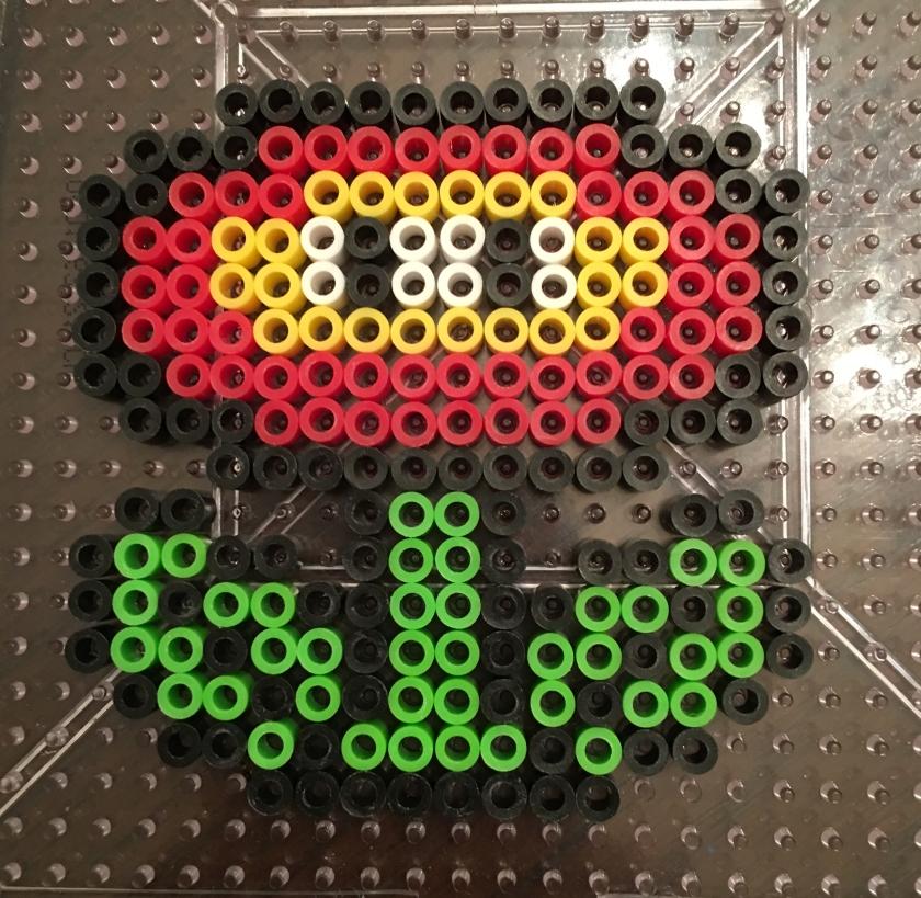 Mario, Fire Flower, Perler Beads, Design