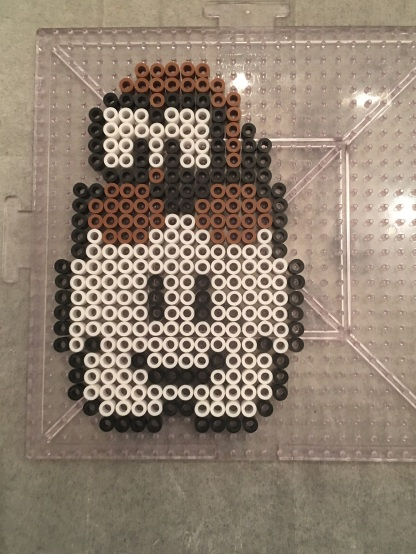 Brown Cloud Lakitu - Mario Perler Hama Beads