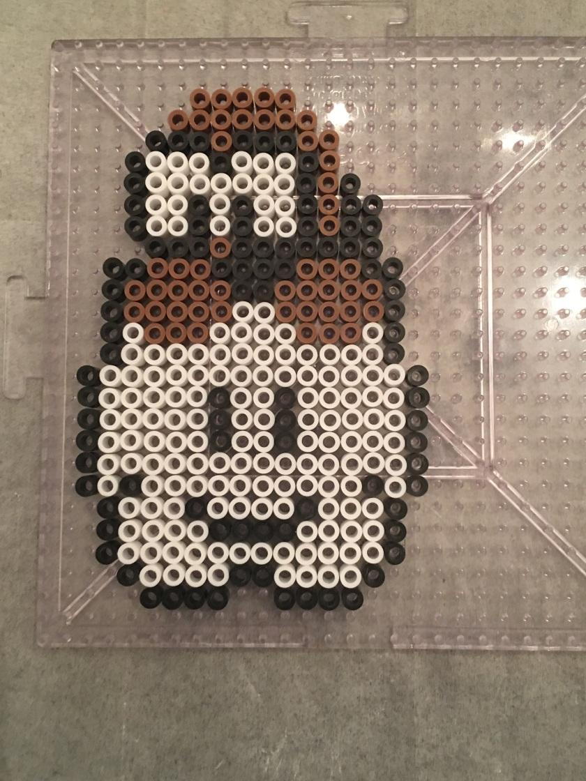 Brown Cloud Lakitu - Mario Perler Hama Beads