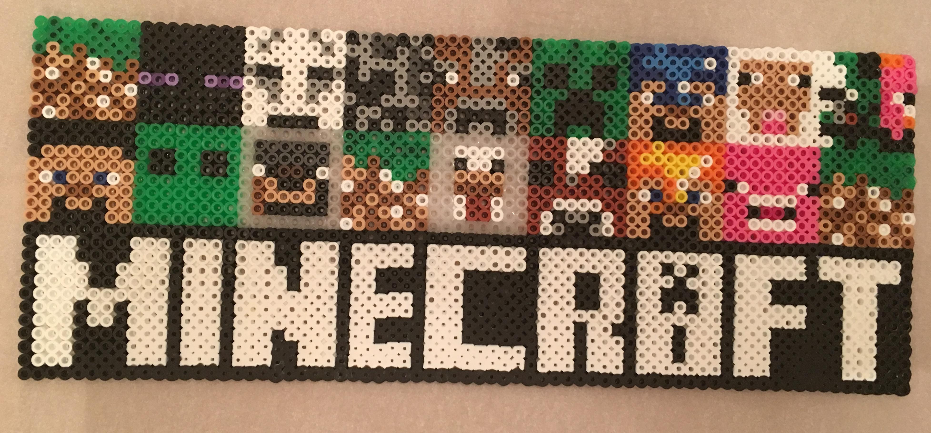 Minecraft Perler Bead Design Melted