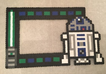Star Wars R2D2 4x6 Picture Frame Perler Beads Pattern