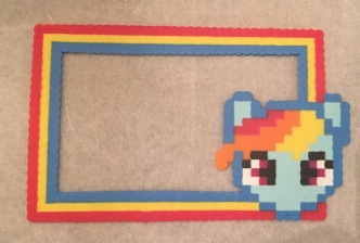 Perler/ Hama Bead Frame- My Little Pony Rainbow Dash Pattern