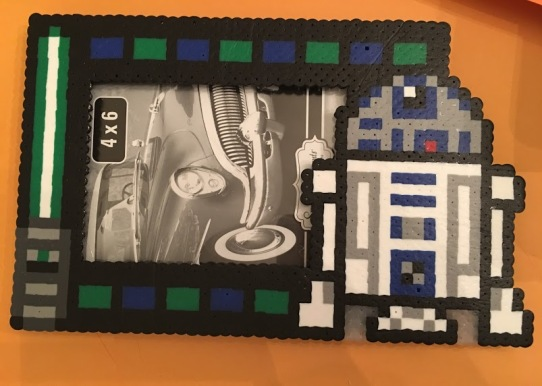 R2D2, Star Wars, Perler, Hama Beads, Picture Frame