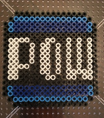 Super Mario POW Block Perler Beads Pattern Hama