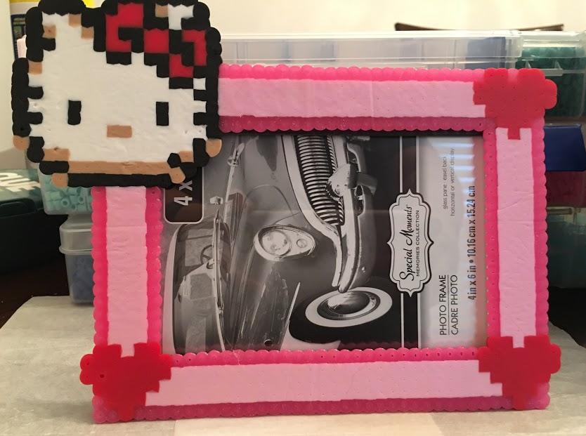 Hello Kitty Perler / Hama Bead Pattern 4 x 6