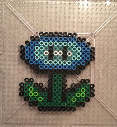 Super Mario Ice Flower Perler Hama Bead Pattern