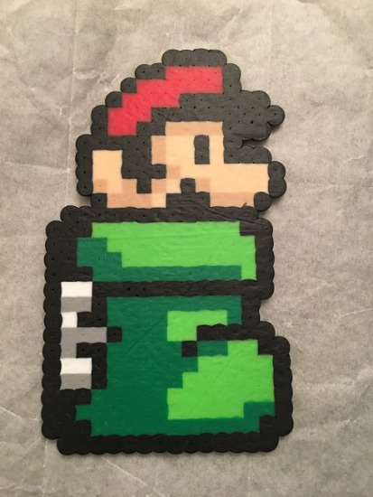Super Mario in the Boot Perler Hama Pattern