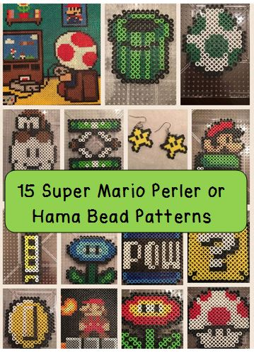 Super Mario Perler Bead Pin Patterns