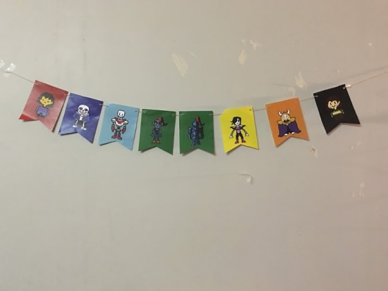 Undertale Birthday Party Character Banner