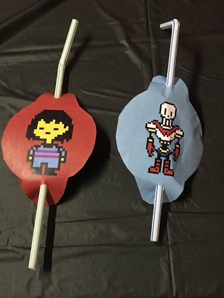 Undertale Birthday Party Straws