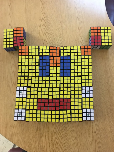 Face from Rubik's Cubes