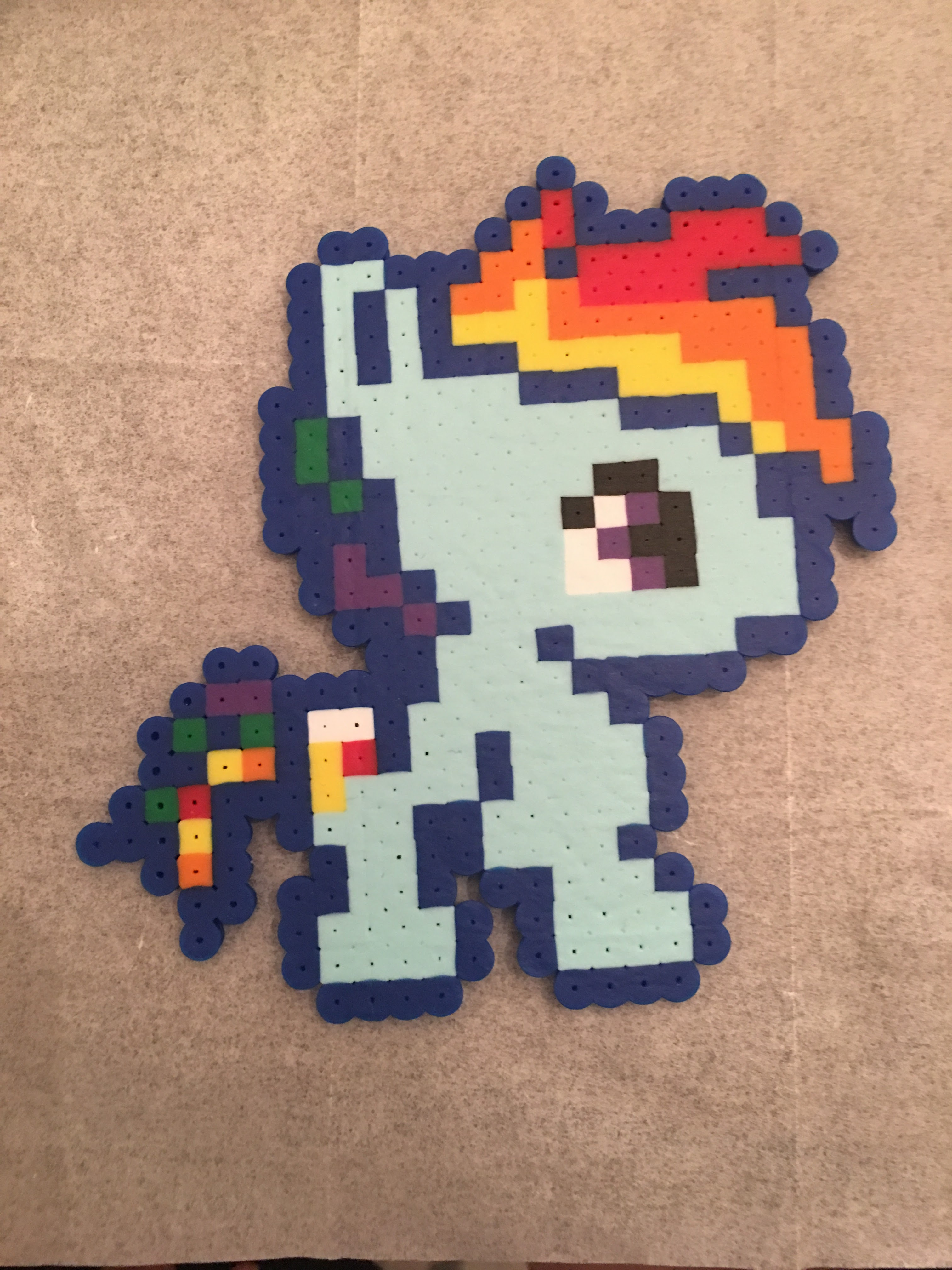 Rainbow Dash Perler Bead Pattern For Parents Teachers