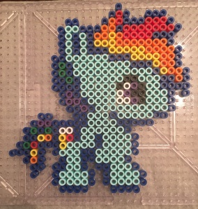 Rainbow Dash- My Little Pony Perler/ Hama Bead Pattern