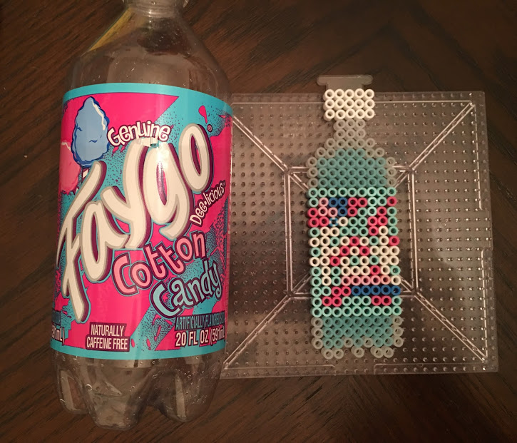 Cotton Candy Faygo Drink Perler Hama Bead Pattern