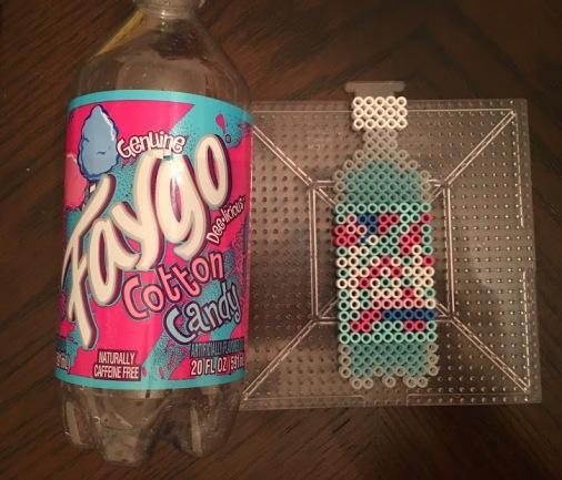 Cotton Candy Faygo Drink Perler Hama Bead Pattern