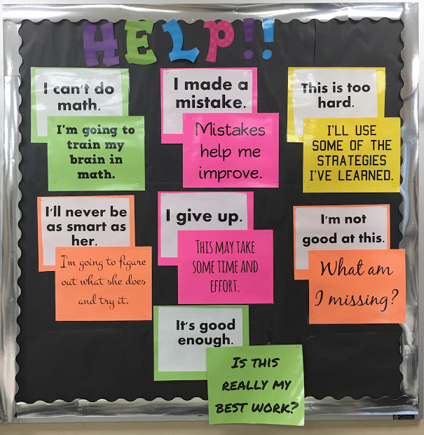 Growth Mindset vs Fixed Mindset Bulletin Board classroom decoration