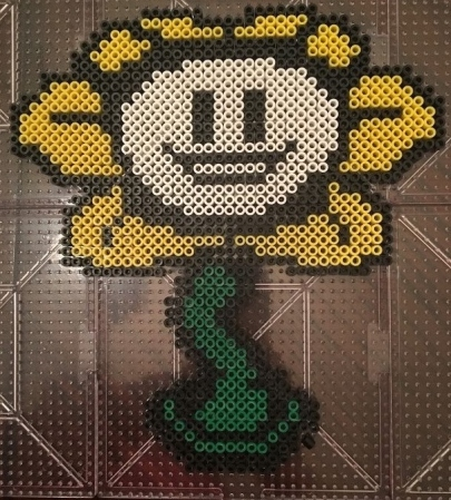 Undertale Flowey Perler Hama Melty Beads
